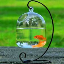 Hanging Glass Vase Flower Plant Terrarium Home Decor Fish Tank Clear Container