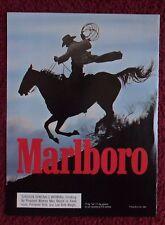 1990 Print Ad Marlboro Man Cigarettes ~ Western Cowboy Riding Horse Silhouette