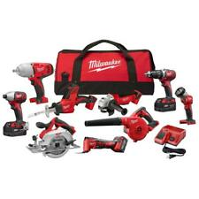 Milwaukee M18 18-Volt Lithium-Ion Combo Tool Kit (9-Tool) w/ 3x 4.0 Ah Batteries
