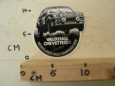 STICKER,DECAL VAUXHALL CHEVETTE NEDERLANDS RALLY KAMPIOEN 1978 JAN VD MAREL B