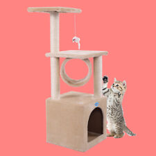 """New listing 36""""H Cat Tree Kitty Condo Furniture Play Scratching Post Kitten Pet House Beige"""