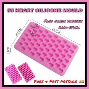 55 Wax Melt Mould Sweet Hearts Silicone Chocolate Mold Baking Valentine Jelly UK