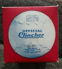 "Official Clincher Softball Vintage 16"" Yellow Original box DeBeer Double Header"