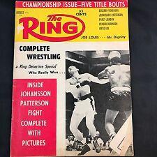 The Ring Magazine August 1960 Johnson Patterson Joe Lewis