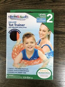 SwimSchool Deluxe TOT Swim Trainer Vest, Heavy Duty, Inflatable Tube with Safety