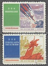 KOREA 1974 used SC#1180/81 set, Writtings of Kim Il Sung.