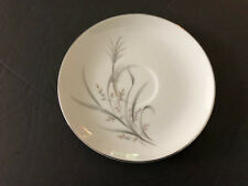 """Castle Court China Wheat Spray Gray Stems Tan Leaves - 6"""" TEA CUP SAUCER"""