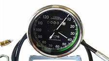 ukscooters SMITHS 0-120M BLACK SPEEDOMETER WITH CABLE ROYAL ENFIELD, BSA, NORTON