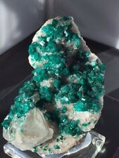 Dioptase on Calcite, Namibia