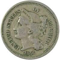 1866 3c Nickel Three Cent Piece US Coin VG Very Good