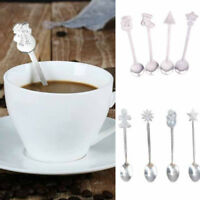 Christmas Spoon Stainless Steel Coffee Spoon Mini Tea Spoons Kids Dessert Spo G1