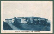 Calabria. S.DEMETRIO CORONE, Cosenza. Collegio italo-albanese. Cart. viagg. 1937