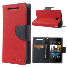 Korean Mercury Fancy Diary Wallet Case Cover for HTC Desire 310 - Red