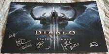 Blizzcon 2013 Diablo III Reaper of Souls Signed Mini Poster