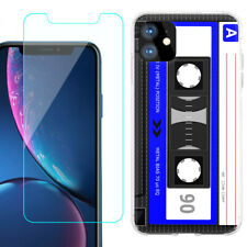 TPU Case for Apple iPhone 11 + Tempered Glass - Cassette Blue