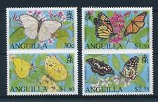 anguilla 2006 papillons butterfly mariposas farfalle danaus appias 4v mnh **
