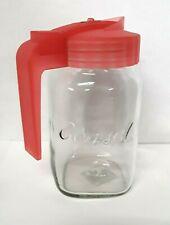 Mason Jar Consol Pitcher Juice Water Lid And Handle 40 oz. Locking Top