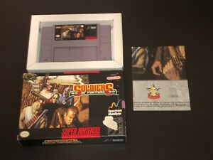 Soldiers of Fortune Super Nintendo Snes w/Box & Poster Authentic