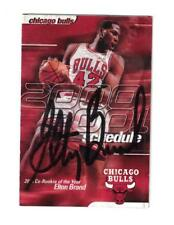Elton Brand Signed Autographed 2000 01 Chicago Bulls Pocket Schedule