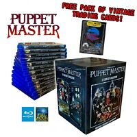 NEW Puppet Master Blu-ray 12 Disc Horror Movie Box Lot Collection Set Cards NICE