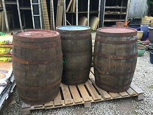 EX WHISKEY OAK BARREL 40 GALLON Wood Keg Water Barrels Butt Cider Pub Table.