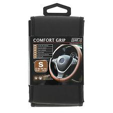 Sumex Comfort Grip italiano hecha a mano de cuero negro cubierta del volante-Pequeño