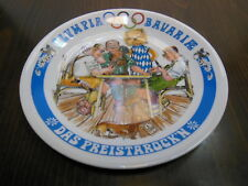 Geman Satire Porcelain Plate 1972 Olympics MÜNCHEN Kartenspiel Card Playing