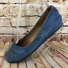 Womens FS NY Size 8 Blue Zeppa Wedge French Sole Ballet Flat Slip On Shoes fs/ny