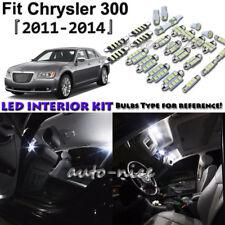 11x White LED Interior Lights Package Kit For 2011 2012 2013 2014 Chrysler 300