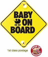 Baby On Board with Stroller Baby Child Safety WITH SUCTION CUPS CAR VEHICLE SIGN