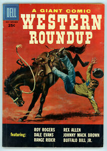 JERRY WEIST ESTATE: WESTERN ROUNDUP #19 (VG+) & 23 (VG) (Dell 1957-58) NR