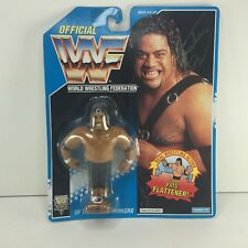 Hasbro WWF Fatu Action Figure MOC Signed Wrestling WWE