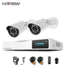 H.VIEW Home1800TVL SurveillanceSecurityCameraSystem 4CH 720P AHD DVR Outdoor