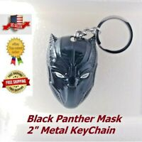 Marvel Avengers Black Panther Keychain Black Mask Metal Keyring Cosplay New