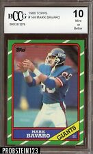 1986 Topps #144 Mark Bavaro RC Rookie BCCG 10 Giants