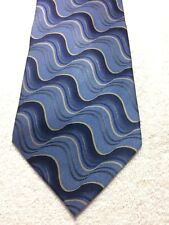 VAN HEUSEN MENS TIE SHADES OF BLUE WITH GRAY 3.75 X 59