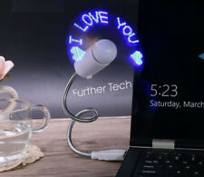 LED USB FAN LIGHT cooling air cooler flexible for laptop desktop computer pc/mac