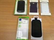 SAMSUNG GALAXY S3 S4 MOBILE PHONE CASE SNAP ON SHELL LEATHER NEW BELKIN MOSHI