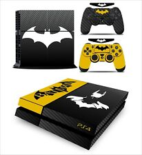 Batman Decal Cover Skin Sticker, carbon fiber for PS4 Console 2 Controller