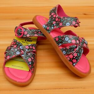 Western Chief Little Girls Picnic Sandals Toddler Size 10 Floral NWT