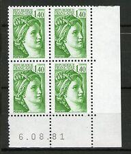 TIMBRE N° 2154 - COIN DATE DU 6-08-81 - TTB - SABINE DE GANDON