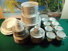 73 PIECE SET OF NORITAKE TRILBY PATTERN 6908, COMPLETE SERVICE FOR 10
