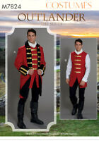 M7824 SEWING PATTERN Men Costume Red Coats English Military Uniform Outlander