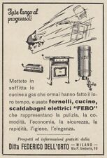 Z3915 Scaldabagni elettrici FEBO - Pubblicità d'epoca - 1932 vintage advertising