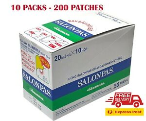 Salonpas Patch Hisamitsu Pain Relieving | 10 Boxes 200 Patches | New Genuine