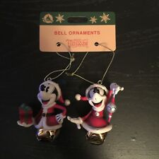 Disney Parks: Mickey and Minnie Mouse - Santa / Christmas Bell Ornament! NEW!