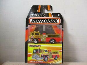 MATCHBOX  ~ 1/64  ~ DIECAST CAR ~ '75 MACK CF PUMPER  ~ BEST OF MATCHBOX