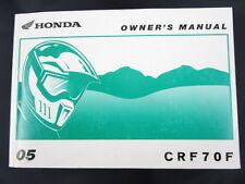 2005 Honda CRF70f Owner's Manual - CRF 70 70f - oem 31gcf680 Maintenance CRF70