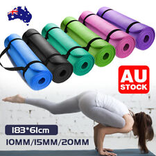 VIVA 15/20mm Yoga Mat Pad NBR Thick Fitness Gym Pilate Exercise BONUS CARRYBAG