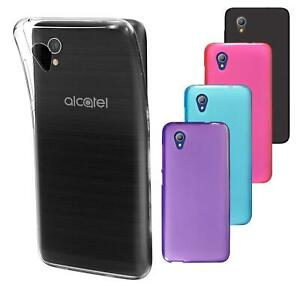 For Alcatel 1 5033X New Genuine Black Clear Gel Silicone Phone Case Cover